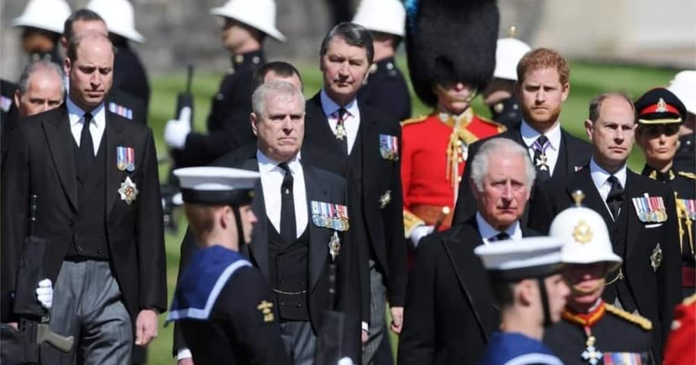 Prince Charles and Harry Reconnect at Philip's Funeral After Year of Father-Son Issues