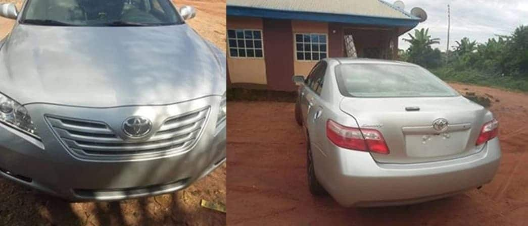 Man fulfills dream of his mother as he buys her N4.5m Toyota Camry for birthday (photos)