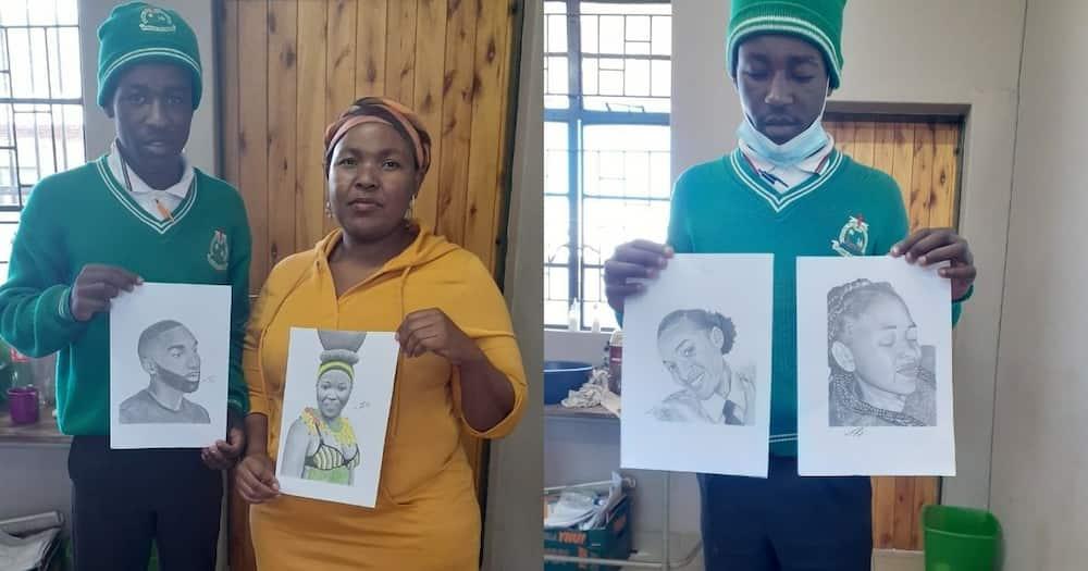 Young artist, Kagiso Moraba, Limpopo, potraits