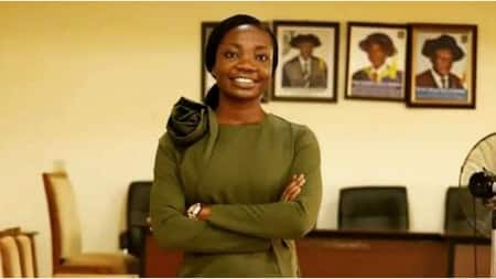 Brilliant lady aptly named Marvelous celebrates as she earns PhD in biochemistry