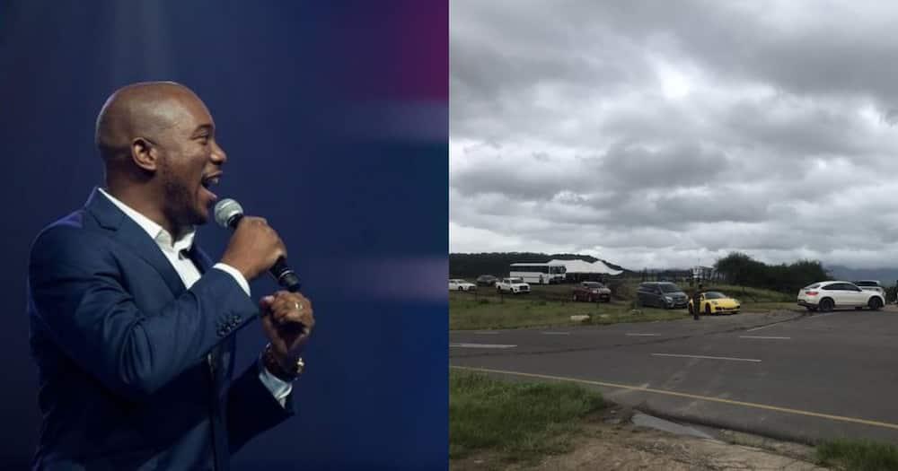 Mmusi Maimane Throws Shade After Luxury Car Convoys Arrives at Nkandla