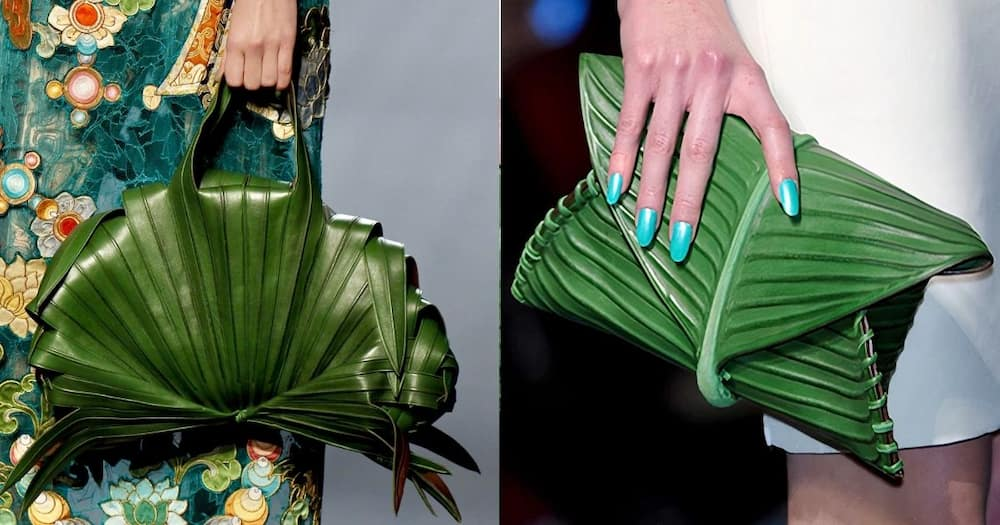 A designer bag made of leaves has left many social media users amused. Image: Twitter