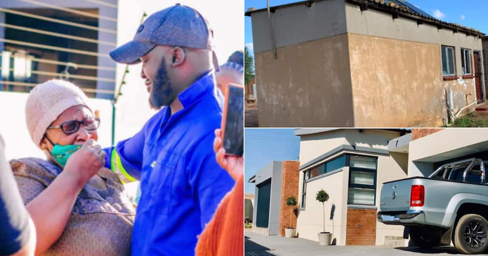 'I Would Take Care of Her': Man Who Endured Poverty as a Kid Builds Mom New House