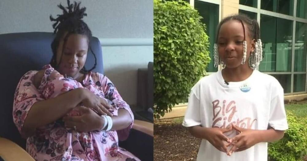 Aakayla Gunn helped her mother deliver her baby sister. Photo: @PIX11.com.