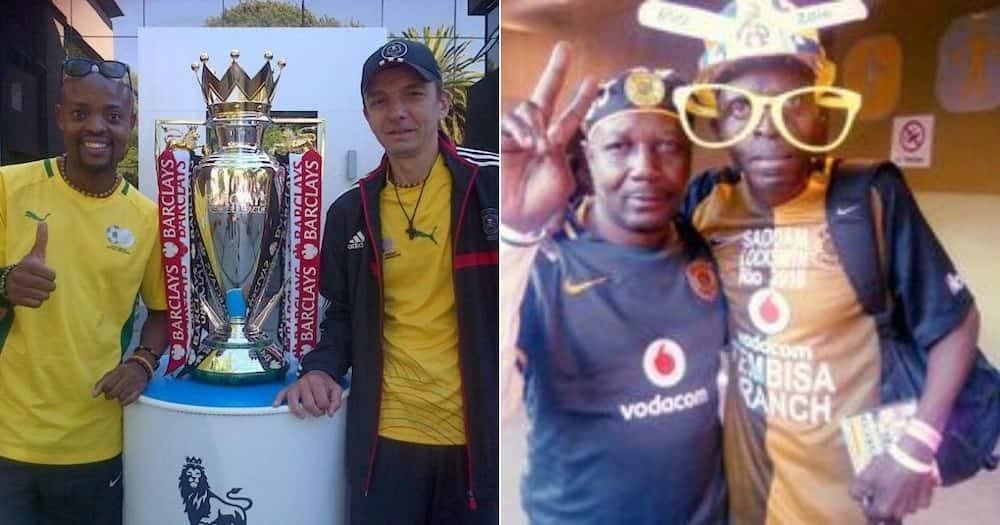 Kaizer Chiefs and Orlando Pirates supporters, Saddam Maake, Masilo Machaka, and Dejan Miladinovic remember the Ellis Park disaster. Image: Facebook