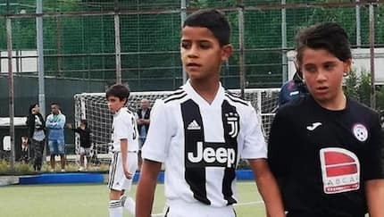 Cristiano Ronaldo Jr copies father by netting a hat-trick for Juventus