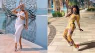 """Queen of Dubai"": Khanyi Mbau looks elegant in stunning evening dress"