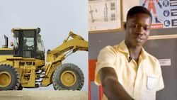 Essilfie Abraham: Takoradi Technical Institute student builds Africa's first excavator that uses water as fuel