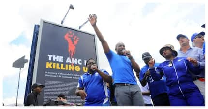 The ANC has lodged a formal complaint over DA's controversial billboard
