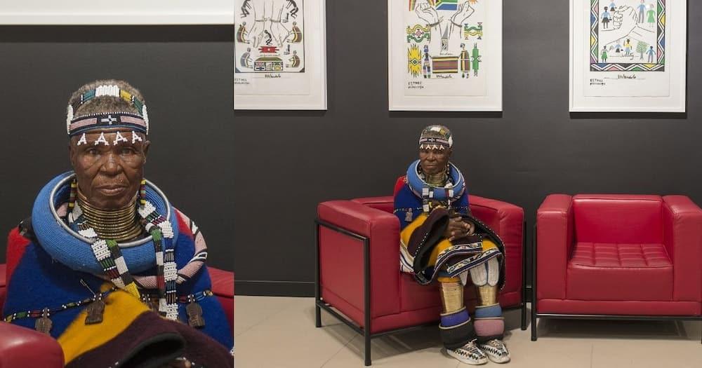Mama Esther Mahlangu celebrates b-day with rare exhibition