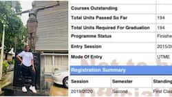 Lady makes history at UNILAG, bags only 1st-class in class, shares result proof