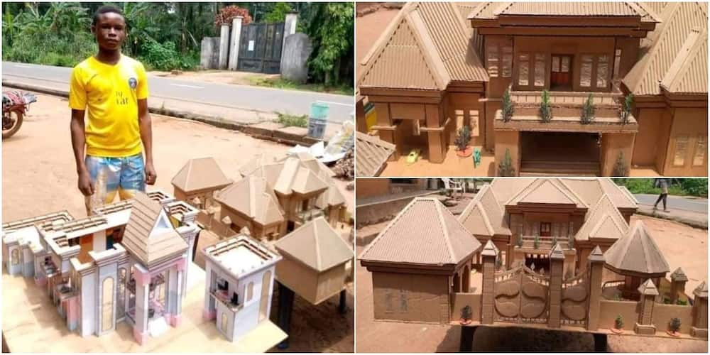 15-year-old Nigerian boy celebrated after using cartons to design building prototypes