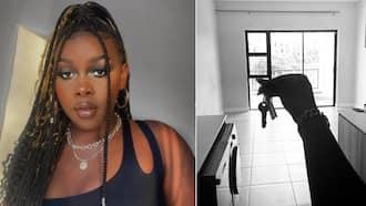 """Black girl magic"": Makeup artist with mad skills flaunts new apartment, Mzansi is super proud"