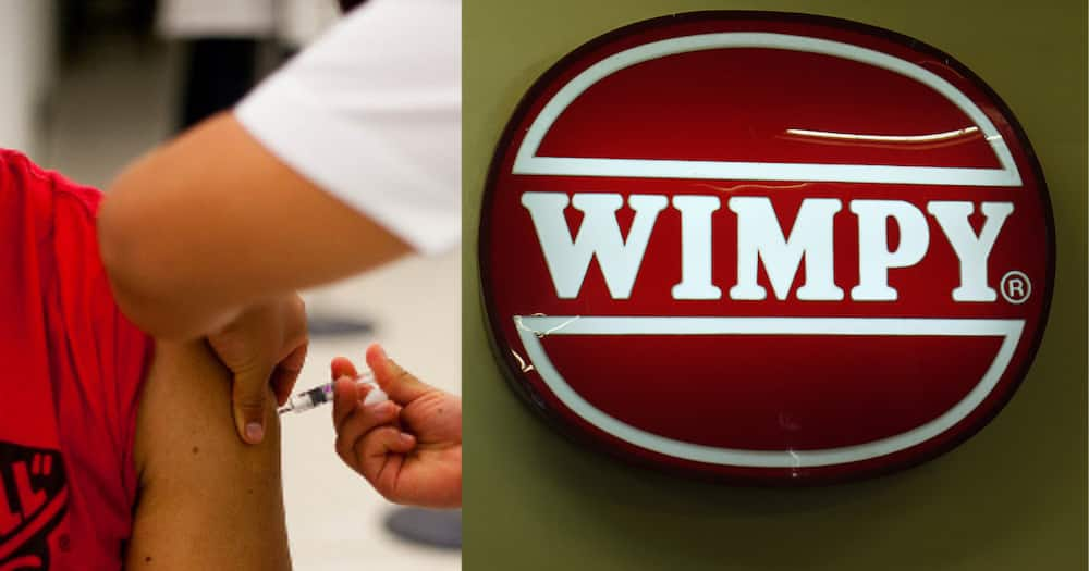 Wimpy, free coffee, proof of vaccination