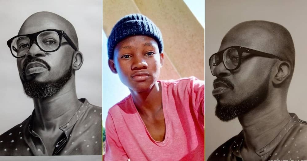 One of South Africa's finest artists Obakeng Mphahlele has shared his latest work on Black Coffee. Image: ObakengMArt/Twitter