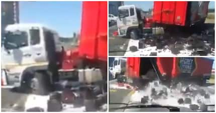 Video shows truck u-turn going horribly wrong and it left tweeps in stitches