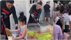 Kindhearted chef makes food and serves poor villagers, adorable video stirs massive reactions