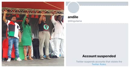 BLF leader Mngxitama's Twitter account has been suspended for hateful conduct
