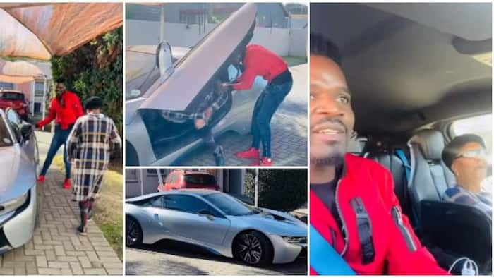 Man spoils his grandma on birthday, takes her for a ride in R2m BMW sports car, video causes stir