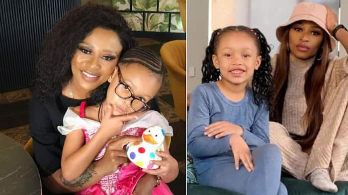 DJ Zinhle and Kairo Forbes enjoy a needed mommy and me spa day