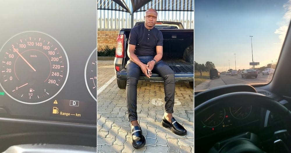 Drip Footwear owner Lekau Sehoana's latest images on social media have attracted massive reactions. Image: @LekauSehoana/Twitter