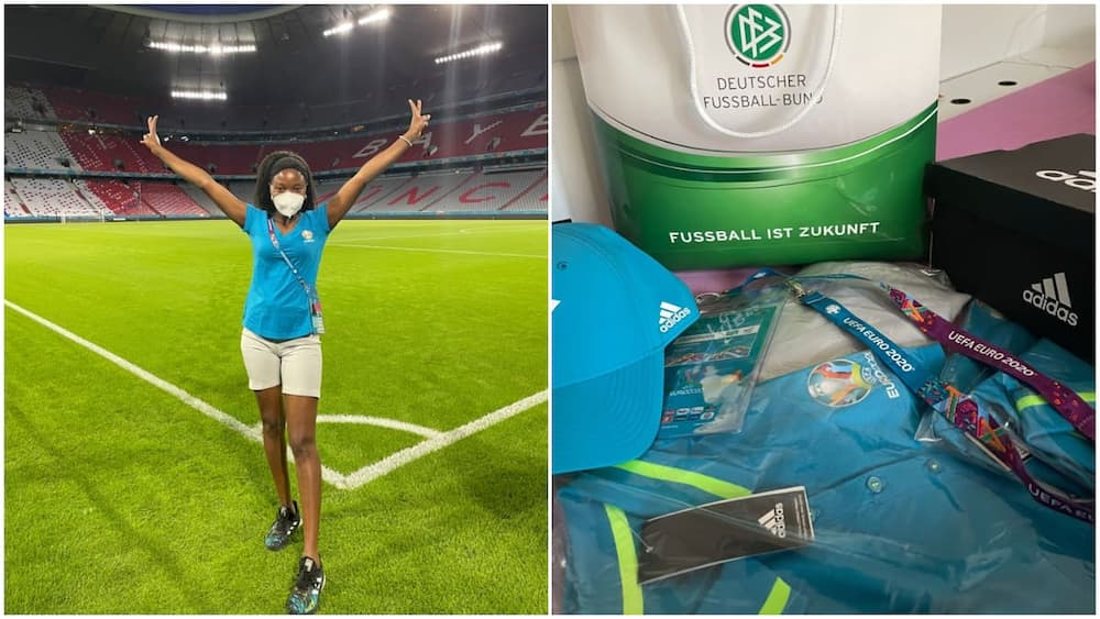 Nigerian lady sends in application to volunteer at UEFA EURO 2020 competition