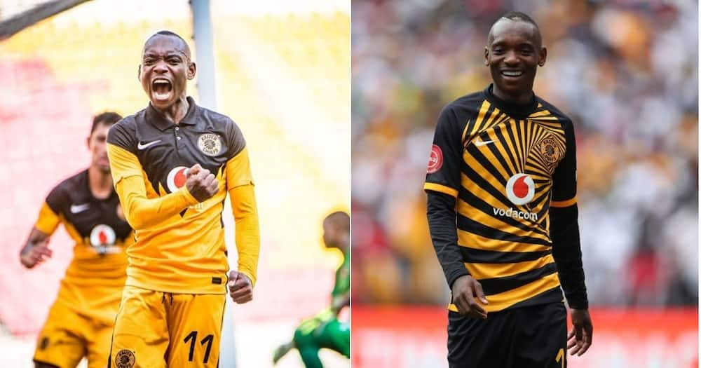 Kaizer Chiefs striker Khama Billiat is currently recovering from a broken leg injury. Image: Twitter