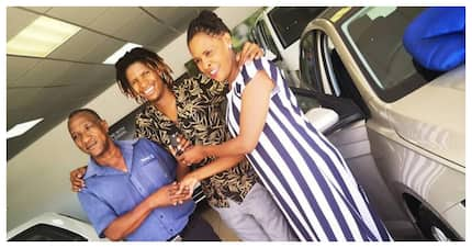 Former Idols SA contestant, Thato, blesses his mom with a new car