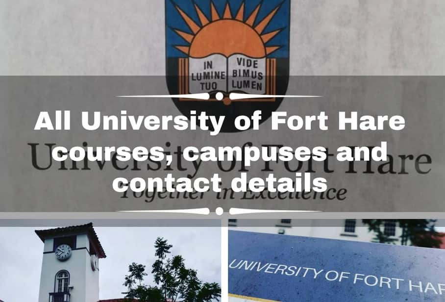 University of Fort Hare courses and application 2022