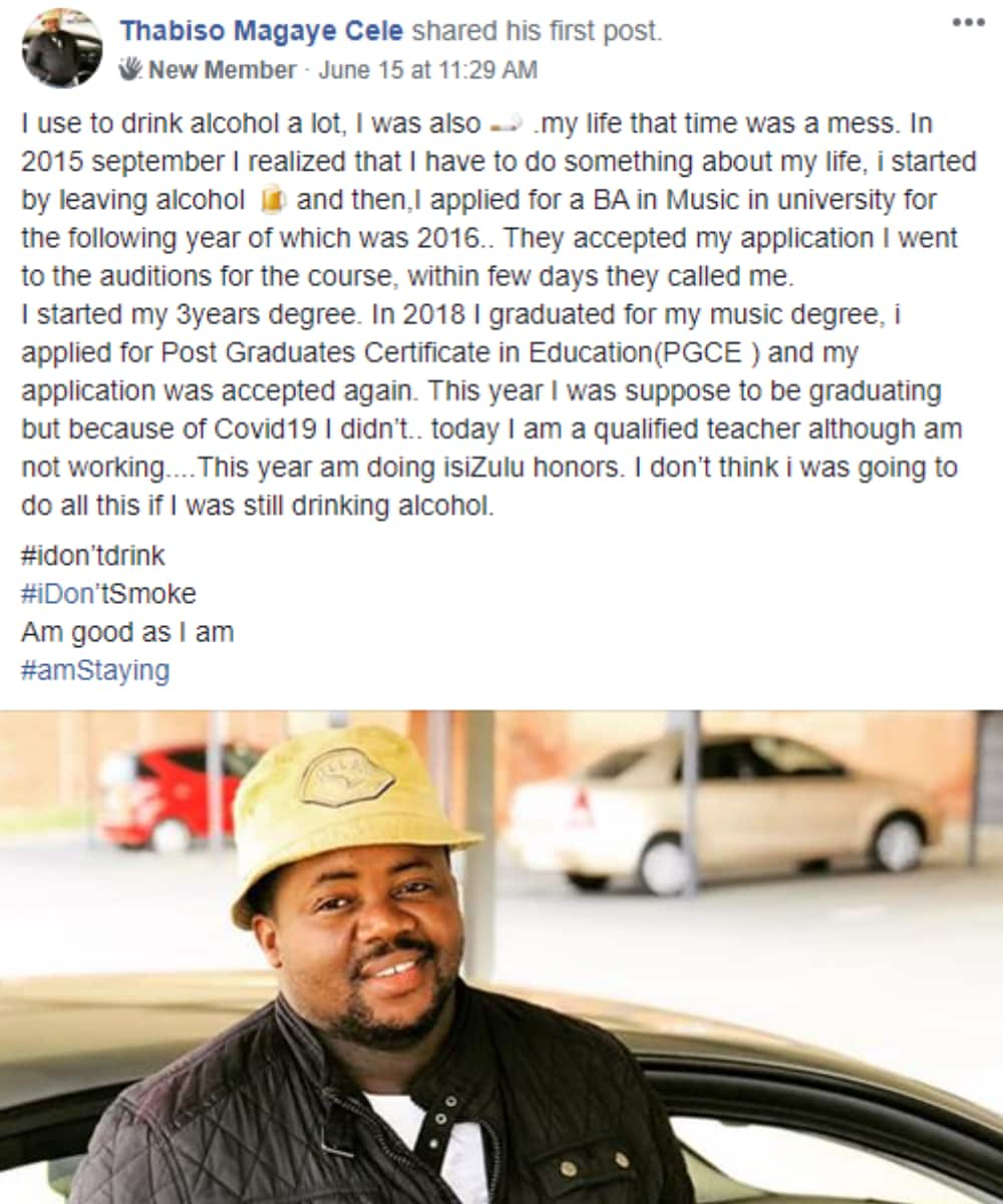 """SA salutes man for success after quitting alcohol: """"That's amazing"""""""