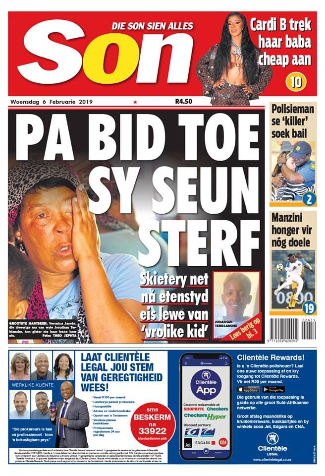 SA newspaper headlines today: 6 February 2019