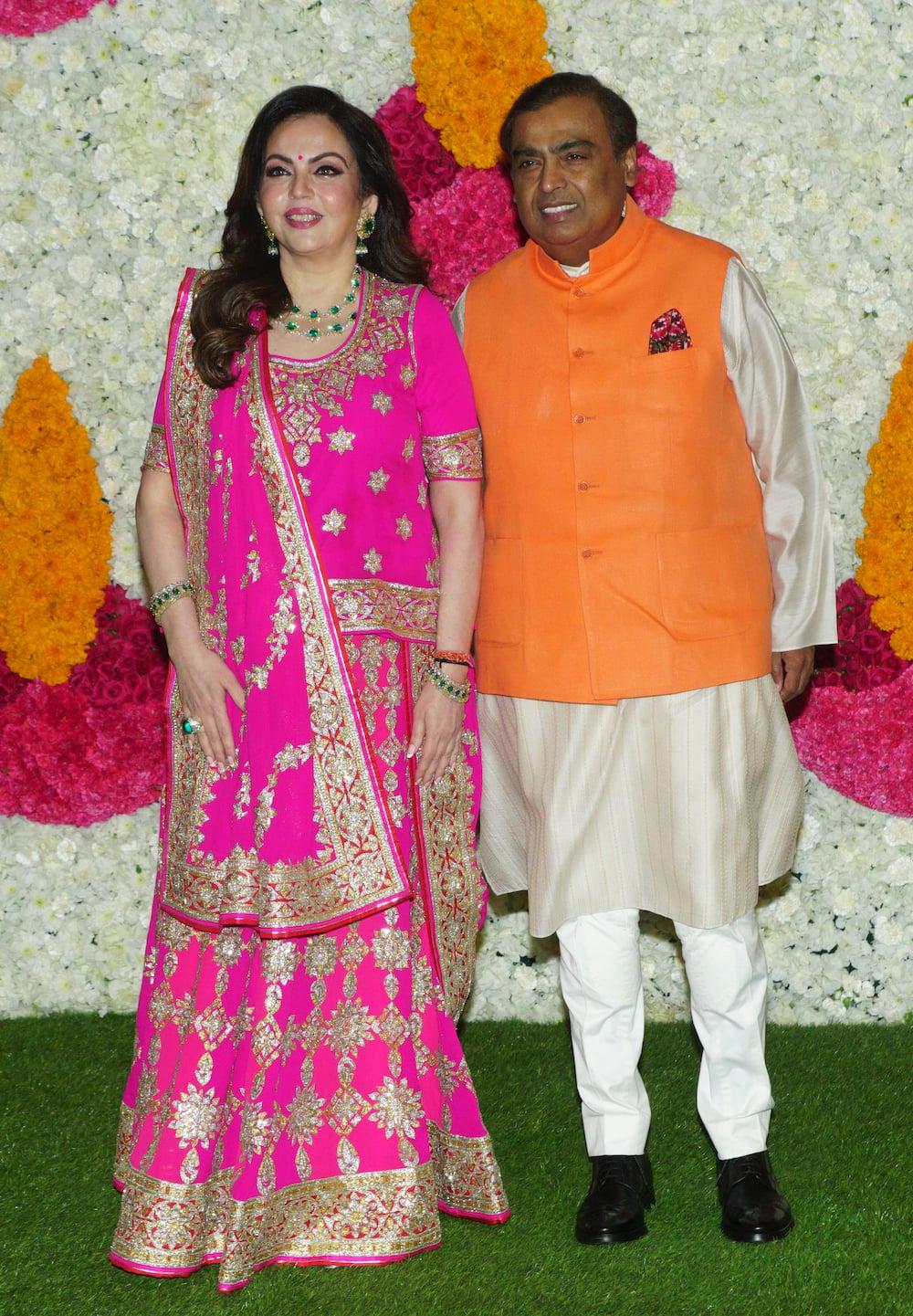 Mukesh Ambani and his wife Nita Ambani