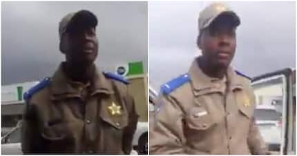 Cop praised for staying calm while irate driver loses his cool