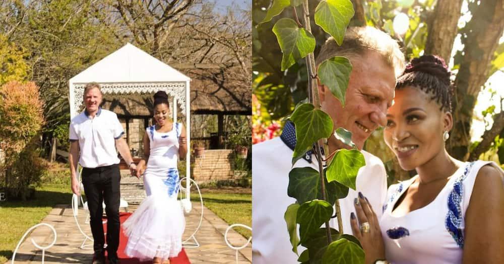 Stunning interracial couple wow Mzansi with beautiful wedding pics