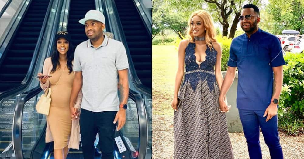 Khune and his wife Sphelele Makhunga welcomed a baby girl into the world earlier this year. Image: Instagram itukhune32