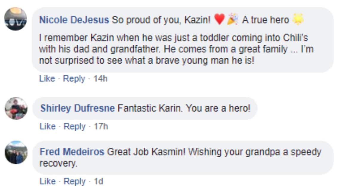 Young hero keeps his cool to help save grandpa's life