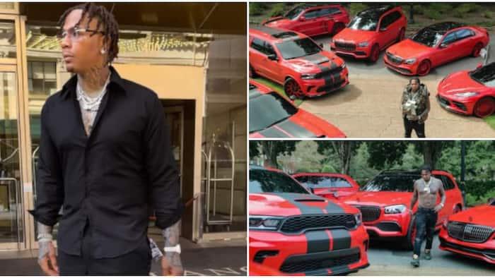 American rapper Moneybagg Yo flaunts expensive fleet of cars on 30th birthday