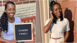 After 3 surgeries, 4 cycles of chemotherapy, and 3 rounds of radiation, this young lady is cancer-free