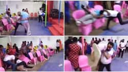 Pastor lifts man, throws him into the congregation during deliverance in video