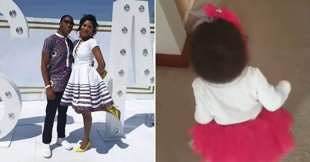 Caster Semenya shows off her daughter's impressive shoe collection