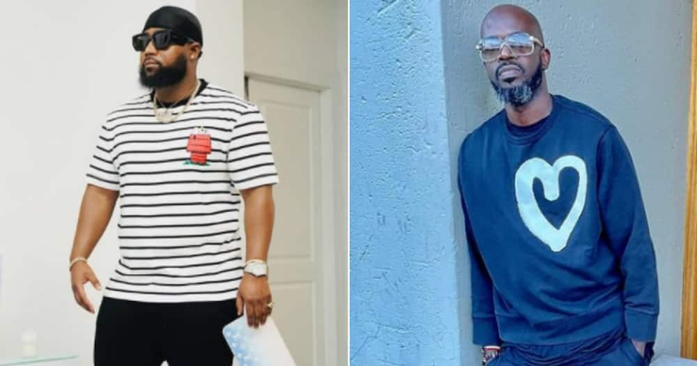 Cassper Nyovest receives mad love from DJ Black Coffee for leveling up