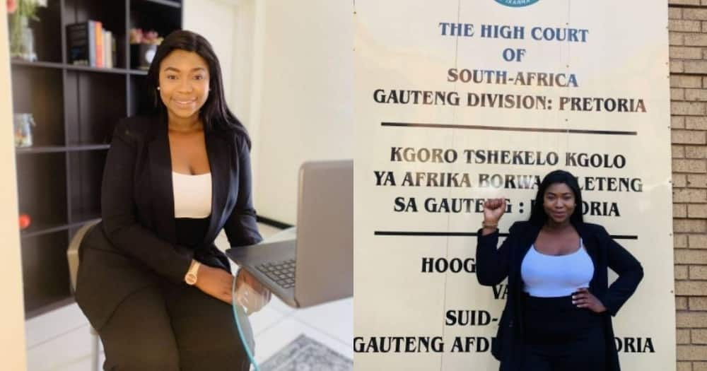 Stunning lady, admitted, attorney, High Court, SA