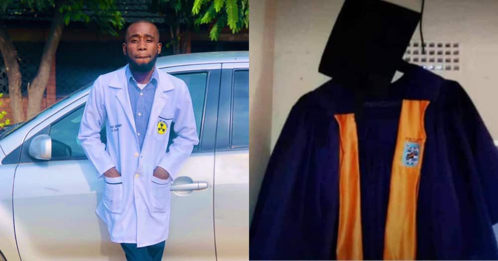 """""""God Doesn't Miss"""": Proud Young Man Celebrates Becoming Radiologist"""