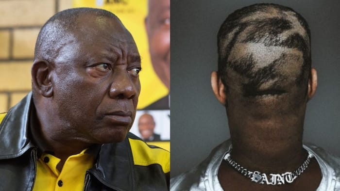 """'The Cleaner' gives Ramaphosa the Ye hairstyle, Mzansi can't breathe: """"Vayolentsi"""""""