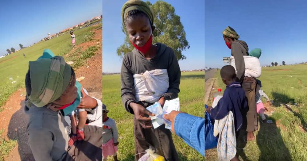 BI Phakathi Praised After Helping Mom and Kids Begging on the Street