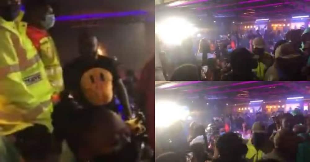 Cops, bust, Saffas, partying, club, past curfew, no masks Pls turn off FB IA