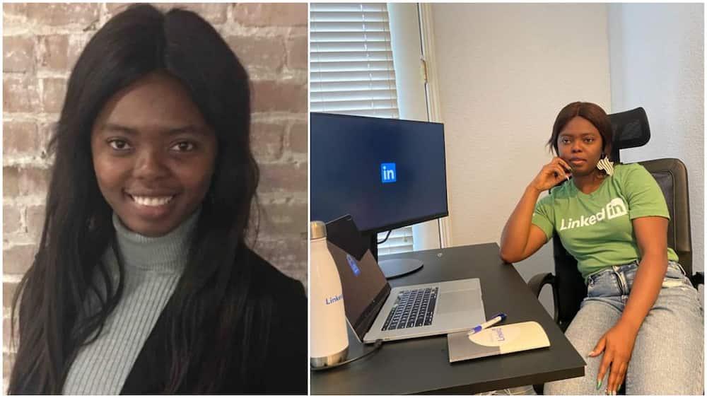 Nigerian lady gets a job as data sceintist with LinkedIn, shares work photo