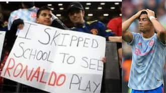 Young Man United fan skipped school to watch Ronaldo, gets caught out by camera