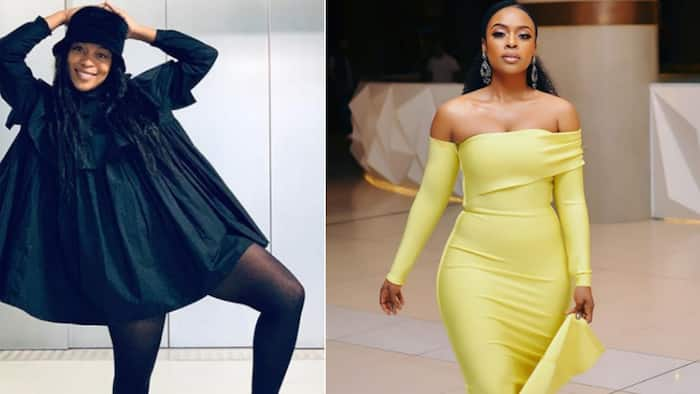 Nomzamo Mbatha shows off amazing legs as she hits Western Cape