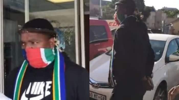 Update: Video of former Ukhozi presenter Ngizwe Mchunu leaving police station in handcuffs